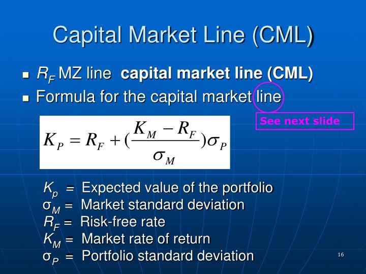 Capital Market Line (CML)