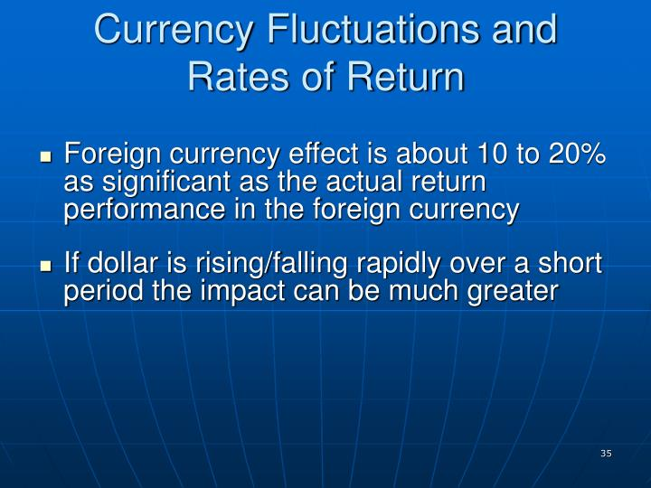 Currency Fluctuations and Rates of Return