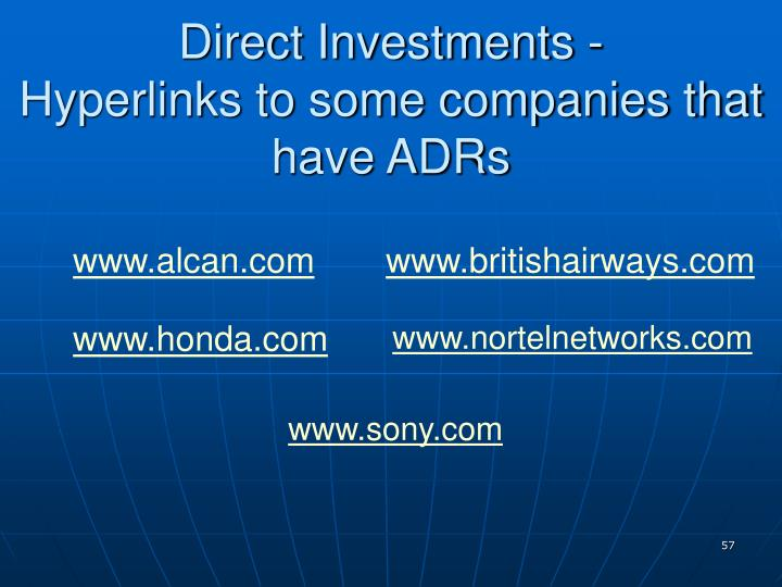 Direct Investments -