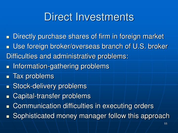 Direct Investments