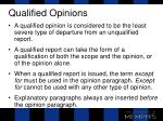 qualified opinions1