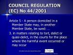 council regulation ec no 44 2001