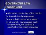 governing law continued1