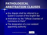pathological arbitration clauses