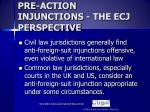 pre action injunctions the ecj perspective