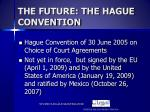 the future the hague convention