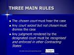 three main rules
