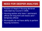 need for deeper analysis3