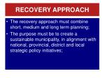 recovery approach