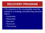recovery program1