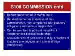 s106 commission cntd
