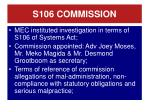 s106 commission