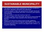 sustainable municipality