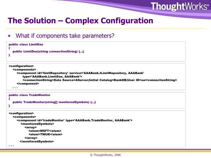 The Solution – Complex Configuration