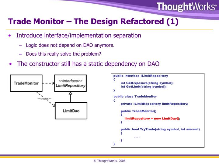 Trade Monitor – The Design Refactored (1)