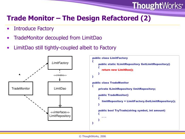 Trade Monitor – The Design Refactored (2)