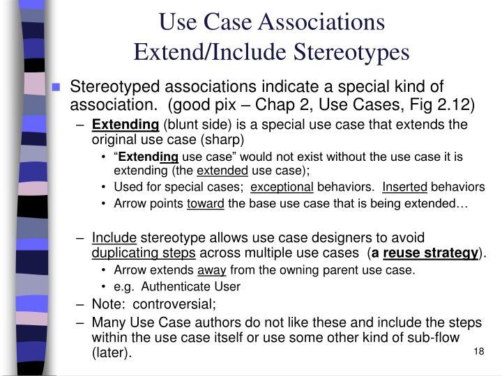 Use Case Associations