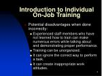 introduction to individual on job training2