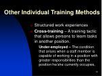 other individual training methods1
