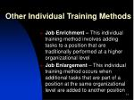 other individual training methods2