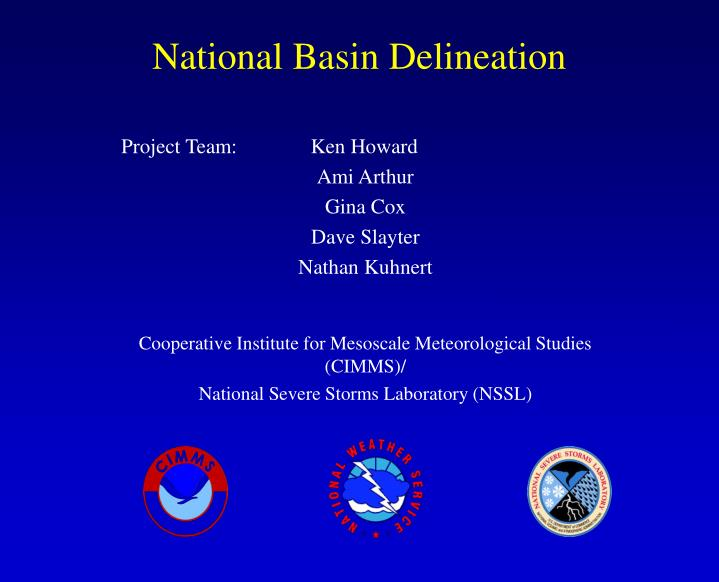 National Basin Delineation