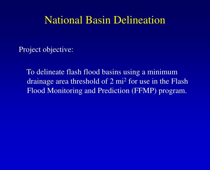 National basin delineation1