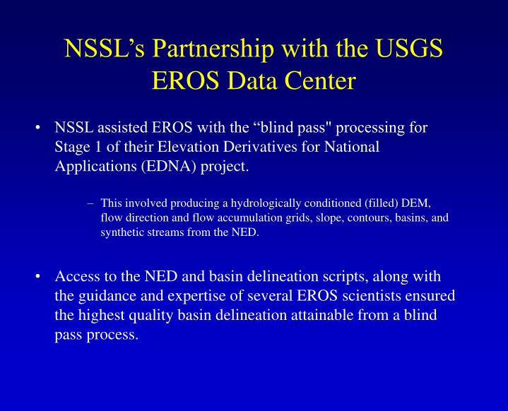 NSSL's Partnership with the USGS EROS Data Center