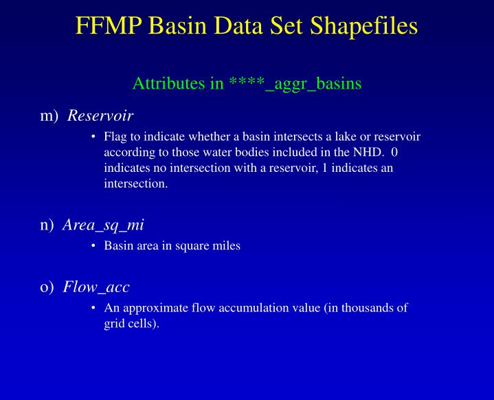 FFMP Basin Data Set Shapefiles