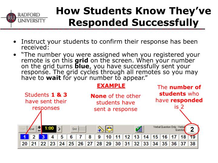 How Students Know They've Responded Successfully