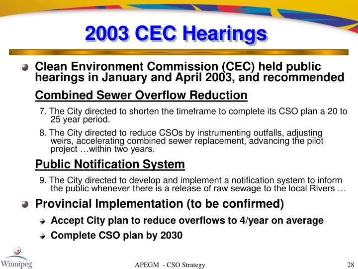 2003 CEC Hearings