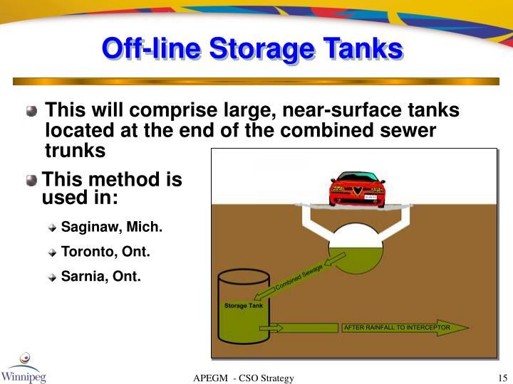 Off-line Storage Tanks
