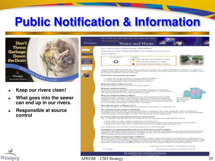 Public Notification & Information