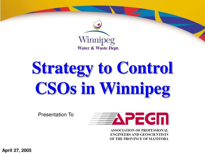 Strategy to control csos in winnipeg