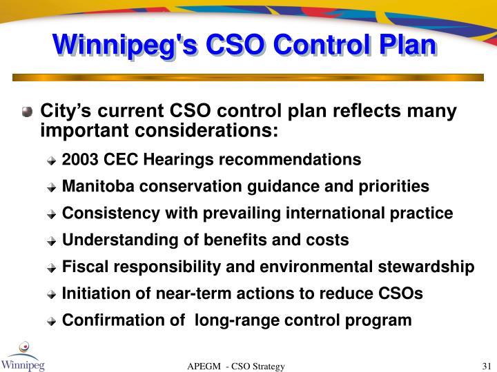 Winnipeg's CSO Control Plan
