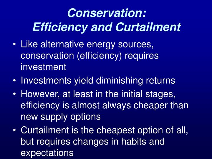 Conservation: