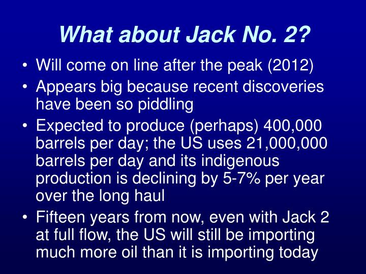 What about Jack No. 2?