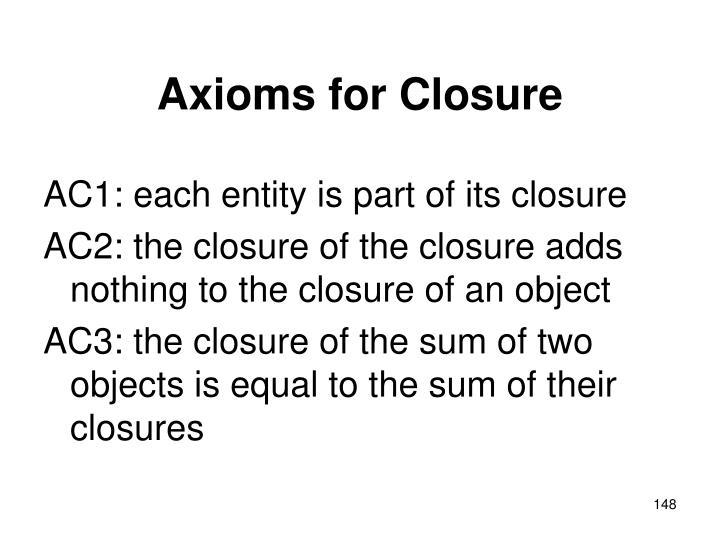 Axioms for Closure