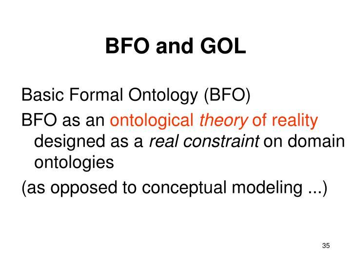 BFO and GOL