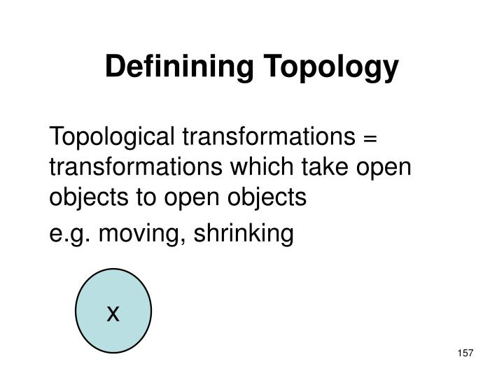 Definining Topology