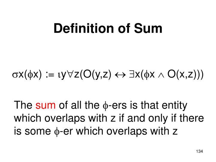 Definition of Sum