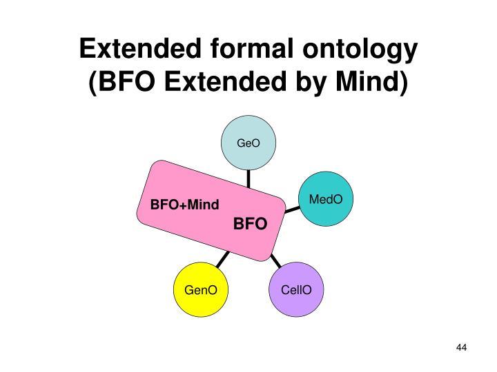 Extended formal ontology