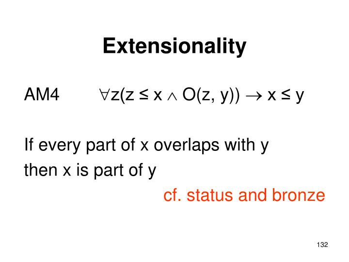 Extensionality