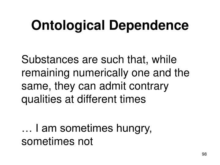 Ontological Dependence