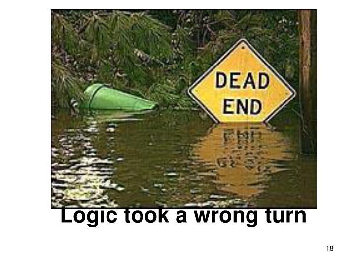 Logic took a wrong turn