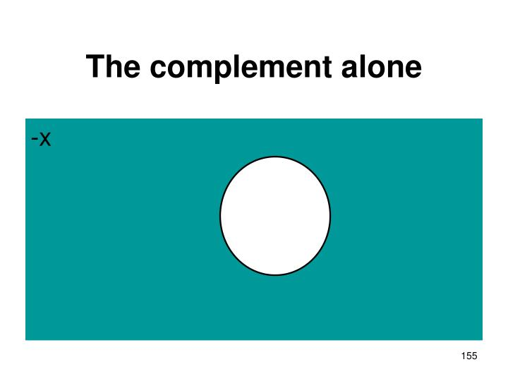 The complement alone