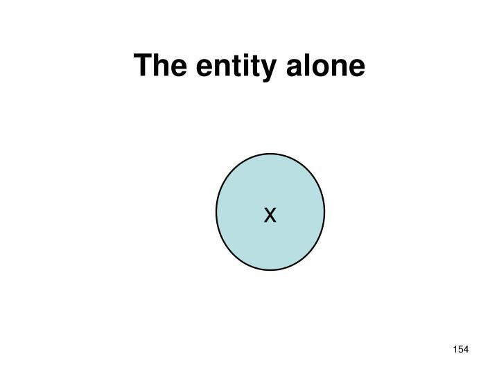 The entity alone