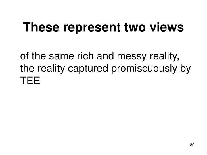 These represent two views