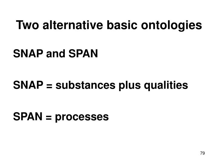Two alternative basic ontologies
