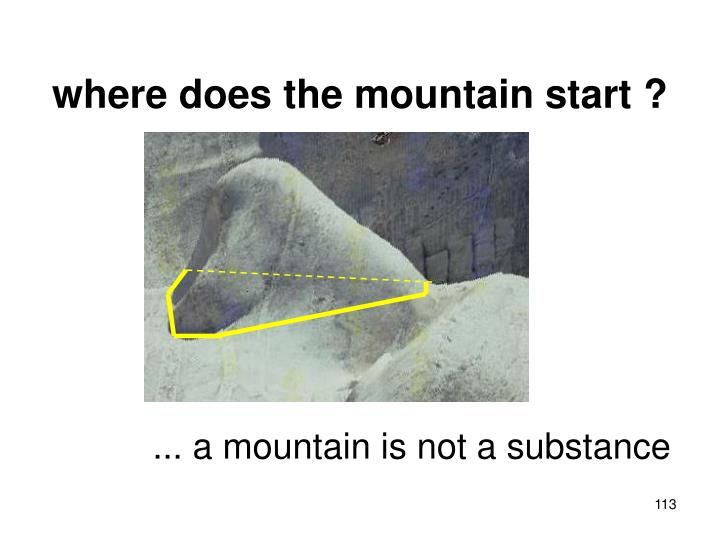where does the mountain start ?
