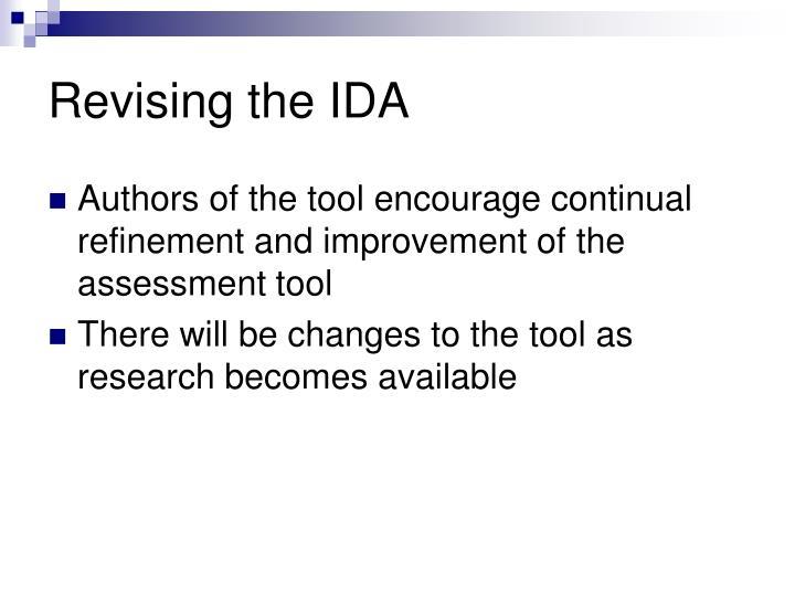 Revising the IDA